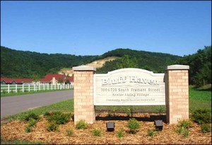 Entrance to Bluff Haven Senior Village, Prairie du Chien WI