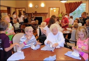 Residents and visitors enjoy ice cream